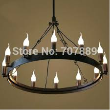 candle chandelier non electric wrought iron candle chandelier us within decorations 8