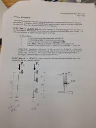 Aisc Manual Design Tables Solved A Column Is Constructed Using Two Channels Back To