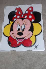 Perler Beads Mickey Mouse Designs Minnie Mouse Perler Bead Art Made By Me Amanda Wasend
