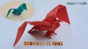 Origami merupakan seni melipat kertas yang berasal dari jepang. Cara Membuat Origami Burung Origami Elang Paper Eagle Youtube