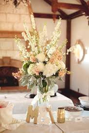 tall ivory blush wedding centerpiece arrangement utah wedding florist calie  rose wadley farms wedding www.