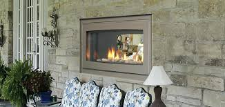 indoor outdoor gas fireplace for double sided contemporary wall fireplaces fireplace