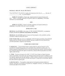 Lease Agreement Example Tenancy Agreement Contract Template Personal Leasing Holiday