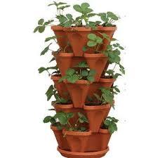 12 in x 5 5 in terracotta plastic vertical stackable planter 5 pack