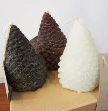 Pine Cone Candles Boxed Set Of 3 Pine Cone Candles Mally Studio