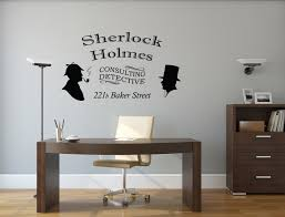 Wall Decor Sticker Sherlock Holmes Wall Decal Consulting Detective Room Wall Decor