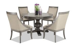 gatsby round 5 piece dining set with swoop chairs 619 00
