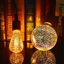 3d Light Bulb Us 5 98 35 Off Novelty 3d Led Fireworks Light Bulb 110 220v 3d Lamp Vintage Atmosphere Decorative Christmas Holiday Light A60 St64 G80 G95 G125 In