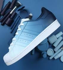 Adidas Superstar Cool Designs Navy Blue Ombre Adidas Superstar Custom Shoes Wedding