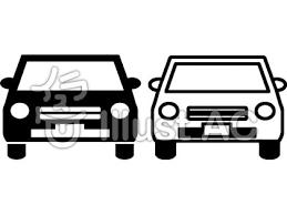 車 モノクロ線画イラスト No 745160無料イラストならイラストac