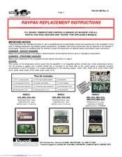 raypak 406a manuals raypak 406a replacement instructions manual