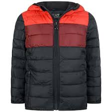Design Jackets For Boys Ea7 Boys Navy Red Padded Jacket Boys Designer Coats
