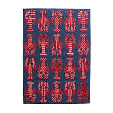 hampton bay lobster blue red 8 ft x 11 ft indoor outdoor
