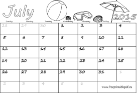 July 2015 Blank Calendar For Kids Ready To Print Free