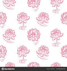 Dessin Sans Soudure Vector Fleurs De N Nuphar Rose Image