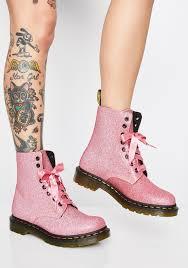 Light Pink Doc Martens 1460 Pascal Pink Glitter Boots Glitter Boots Boots Doc