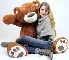 Big Plush Giant Teddy Bear Five Feet Tall Cinnamon Brown Color Soft