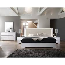 Best Master Furniture Athen White 5 Pcs Bedroom Set, Cal. King