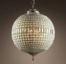 globe chandeliers crystal chandelier large from restoration hardware they say i classy disco ball uk
