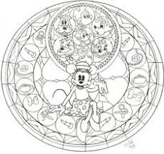 Small Picture Disney Stained Glass Coloring Pages sketch template Disney