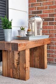 Diy Patio Furniture Diy Outdoor Table Front Porch Bench And Porch Bench