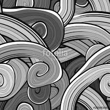 Black And White Wave Vector Seamless Pattern Fluid Pattern Green