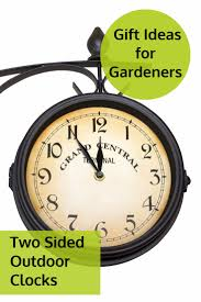 best two sided outdoor clocks for gardens and outdoor spaces great gift ideas