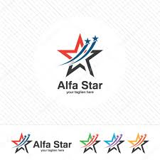 Template For A Star Abstract Star Logo Template Simple Modern Star Vector Stock