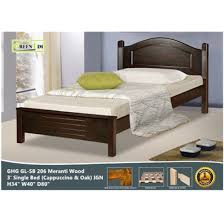 GREEN HOME SB 206 Meranti Wooden Single Bed Frame ( Cappuccino ) IGN ...