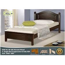 GREEN HOME SB 206 Meranti Wooden Single Bed Frame ( Cappuccino ) IGN ...