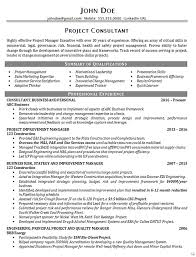 Project Manager Resume Summary Inspiration Executive Project Consultant Resume Example Business Manager