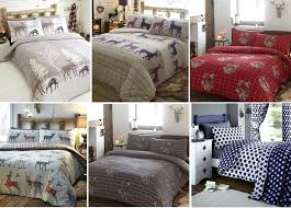 flannel bedding details about brushed cotton flannelette duvet quilt cover flannel bedding bed set flannel