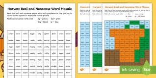 Students look at the pictures and circle the correct word. Harvest Phase 6 Phonics Mosaic Worksheet Activity Sheets