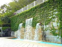wall waterfall water indoor ideas fountains outdoor uk diy fountain
