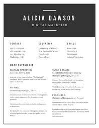canva modern resume templates minimalist black and white modern resume templates by canva