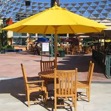 yellow patio furniture. Heavy Duty Patio Umbrella With Yellow And Teak Furniture Set