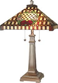 dale tiffany 8920 739 mission rose tiffany antique bronze side table lamp loading zoom