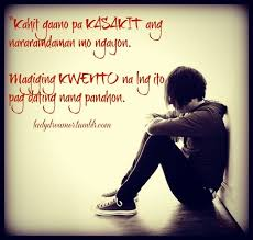 Broken Hearted Love Quotes Tumblr Tagalog - broken hearted love ... via Relatably.com