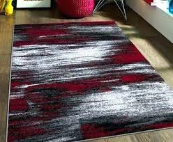red black gray rug grey rugs area and bedroom modern home ideas easy
