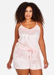 plus size short sets plus size pajama velvet tank top and shorts set