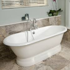 oxford cast iron double ended pedestal tub rim faucet drillings