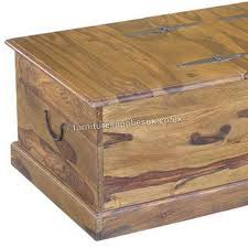 jali long trunk chest coffee table