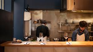 Restaurant open kitchen Industrial Like Many French Restaurants Polissons Has An Open Kitchen As You Can See From The Picture Its Right There In The Back Of The Restaurant Open For All Nuxeo The Nuxeo Kitchen Is Open Come On In Nuxeo