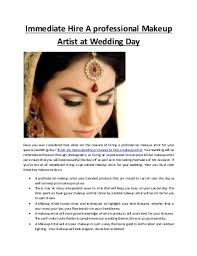 imate hire a professional makeup artist at wedding day