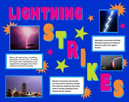 how to make a science poster make a science fair project poster ideas lightning meteorology