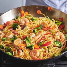 Delicious hearty and healthy noodle recipes from f&w, including a cellophane food and wine presents a new network of food pros delivering the most cookable recipes and delicious ideas online. Healthy Easy Shrimp Lo Mein Recipe The Mom 100