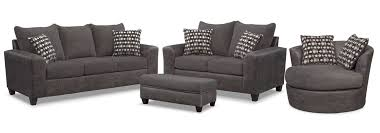 Of Living Room Chairs The Brando Living Room Collection Smoke Value City Furniture