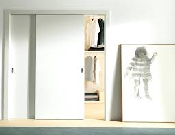 decorating small bedroom modern simple closet using white sliding door and beige organizer ideas with doors