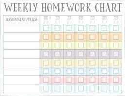 Free Homework Chart Homework Reward Charts Free Printables Homework