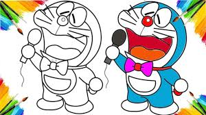 coloring book doraemon animation cartoon for children drawing and coloring